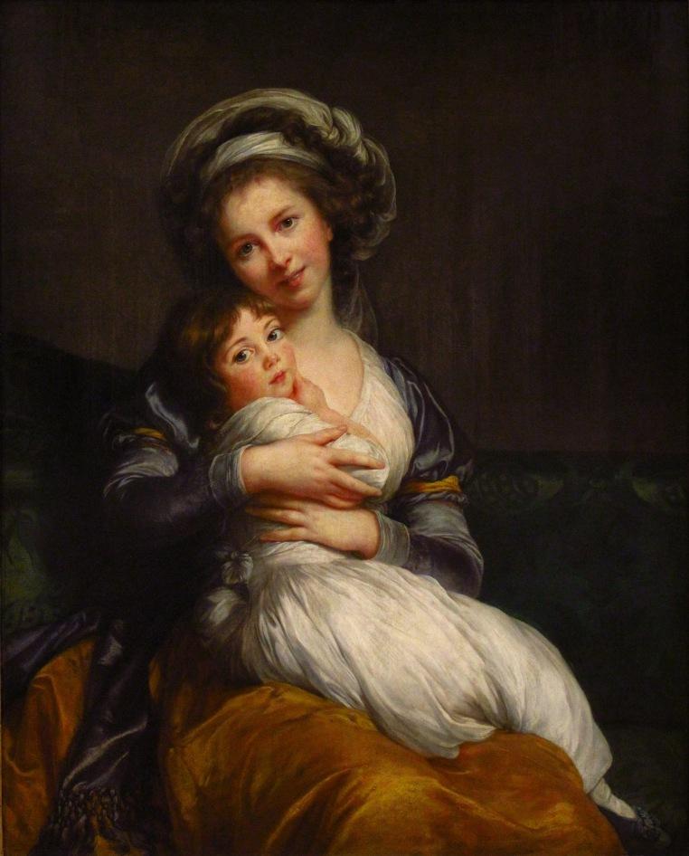 Élisabeth-Louise_Vigée-Le_Brun_-_Madame_Vigée-Le_Brun_et_sa_fille_(1786)